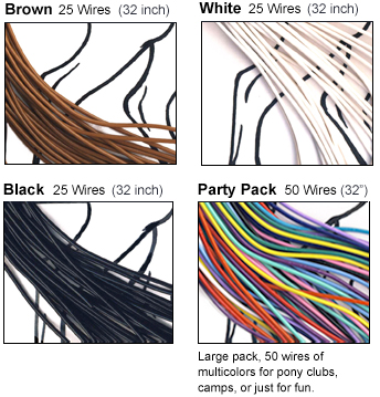 braiding wire brown white lack multicolor